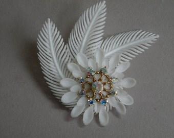 Feather & Flower Brooch