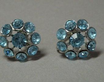 Sky Blue Rhinestone Earrings