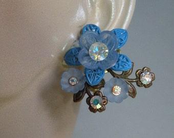 Blue Flower Clips