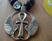 Winged Ankh necklace