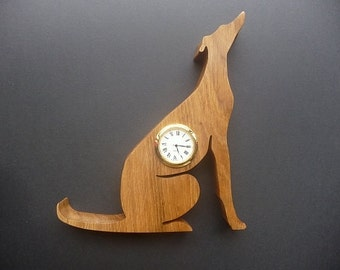 Wooden Greyhound Clock