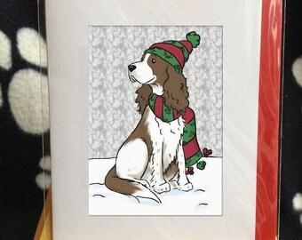 Christmas  Springer Spaniel Card