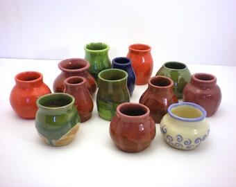 Autumn Flower Bud Vases - Hand Thrown Porcelain