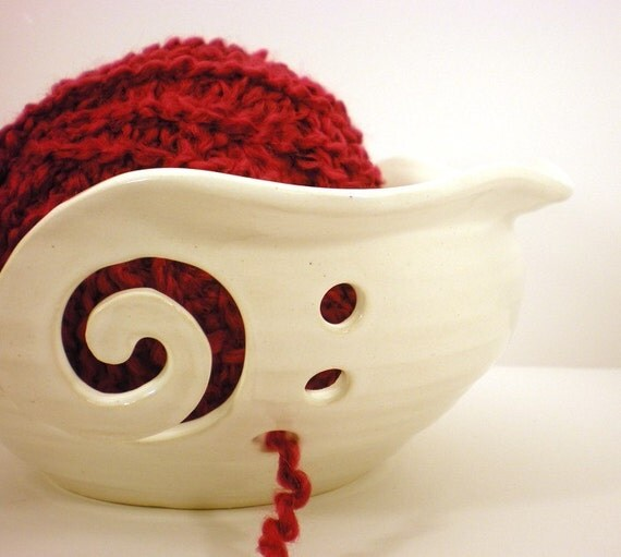 Knitting Yarn Holder : Yarn bowl crochet or knitting helper holder by