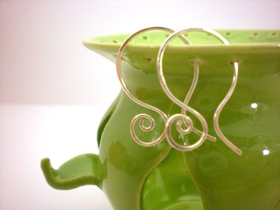 Mini Ceramic Jewelry Holder - Lime Green - Great Gift - Earring and RIng Holder- Made to Order