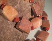 Jasper and Aventurine Necklace and Bracelet Set