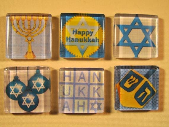 Hanukkah Decorations Fridge Magnets, Hanukkah Gift, Fridge Magnets, Holiday Decorations, Refrigerator Magnets & Storage Tin