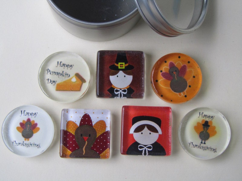 Decorating Ideas > Thanksgiving Decorations 7 Fridge Magnets By DLRjewelry On  ~ 070224_Thanksgiving Decorations On Etsy