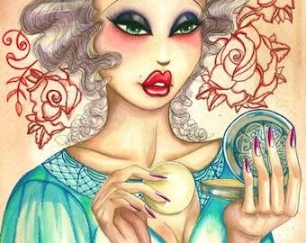 Illustration Print/Wishful Makeup-ing