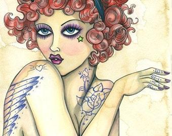 Illustration Print\/Feline Persuasion