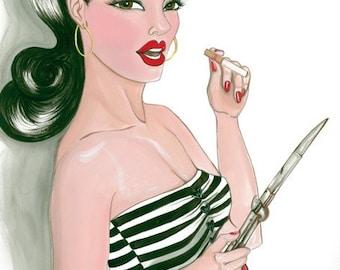Illustration Print\/Bad Girl Bernie