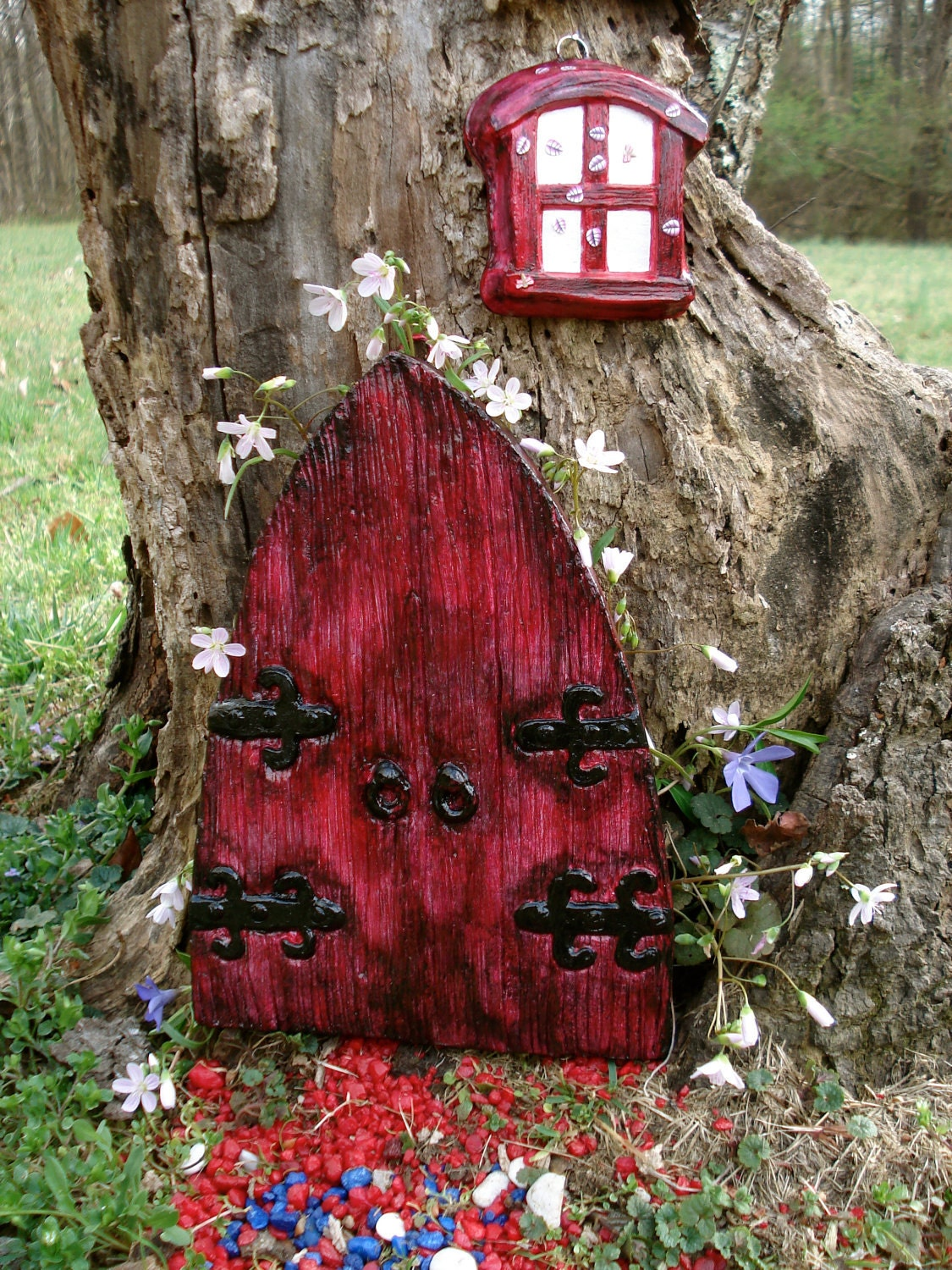 Faeries fairy door gifts for mom unique by fairybehindthedoor for Large gnome doors
