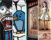 downtown wall art  local artists set of 4 note cards