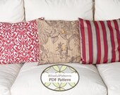 3 Pillow Case Patterns in One - PDF Sewing Pattern - FREE shipping- By BlissfulPatterns