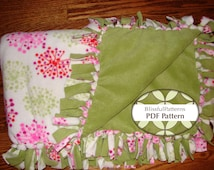 Warm n Cozy One Hour Fleece Blanket PDF Pattern - No Sewing - FREE shipping - by Blissfulpatterns