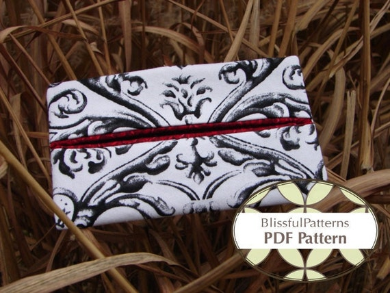 Tissue Holder PDF Sewing Pattern - Easy to Sew -INSTANT DOWNLOAD - by Blissfulpatterns