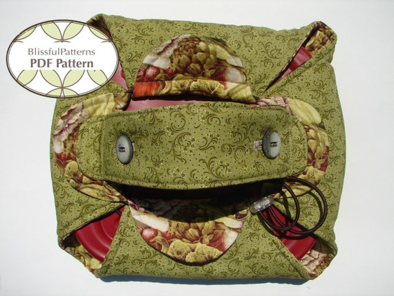 Casserole or Pie Carrier PDF Sewing Pattern - FREE shipping - by BlissfulPatterns