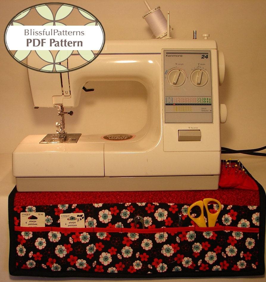 Pdf Sewing Patterns Sewing Machine Organizer Pdf