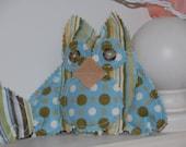 Plush Owlie - Polka Dots and Stripes