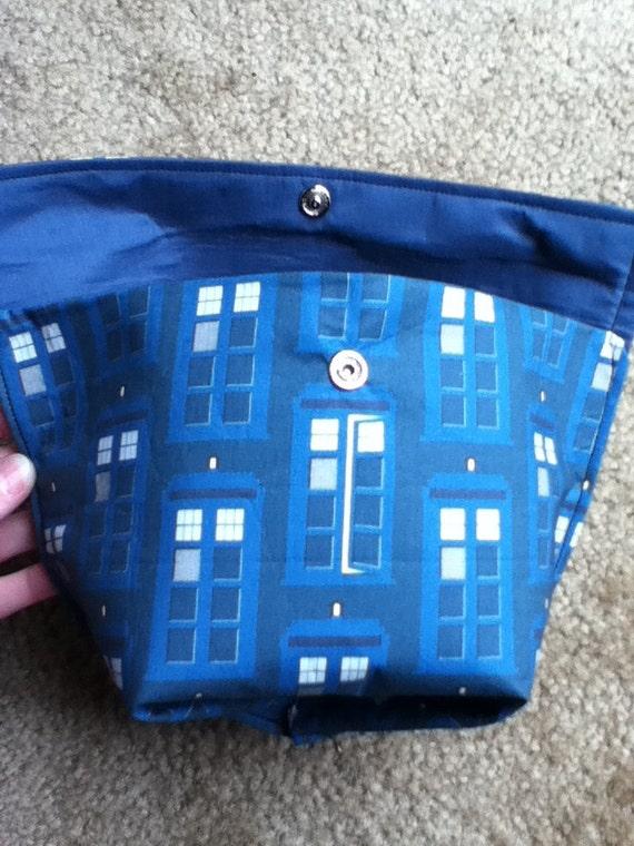 Tardis Flatbox Knitting Bag