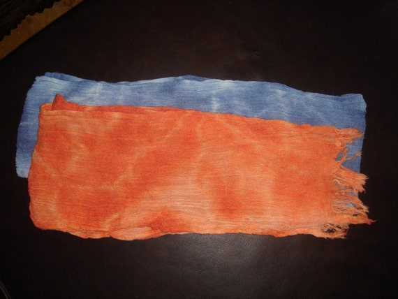 HAND DYED SCARVES