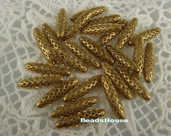 20pcs High Quality  Raw Brass Jewellery Bead Charms,5 x 20 mm