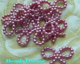 PP-100-8PL  36 Pcs  Plastic Pearized Ribbon - Purple