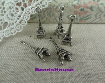 10Pcs Antique Brass Plated Eiffel Tower Charms / Pendants,Nickel Free