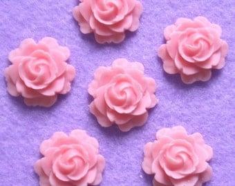 323-00-182-6-CA 6 Pcs Mini Rose Cabochon - Pink.
