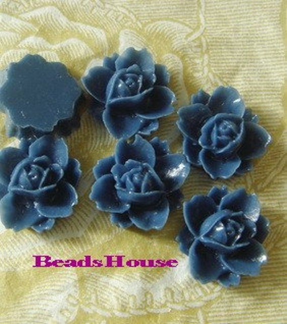 Last 620-00-CA  8pcs Beautiful Rose Cabochons -Star Sapphire.