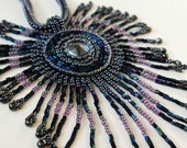 RESERVED for Margie - Daughter of Wind - Pendant. Rhinestone, seed beads