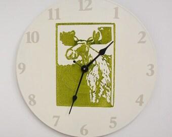 Moose Clock Functional Art