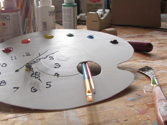 Painters Pallet Wall Clock