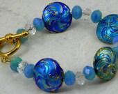 Blue Cloissoine Bracelet