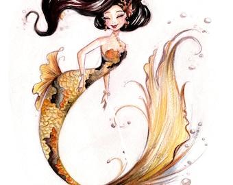 Gold Koi Fish fine art print