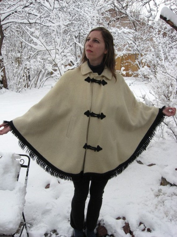 Heidi Vintage German Wool Cape