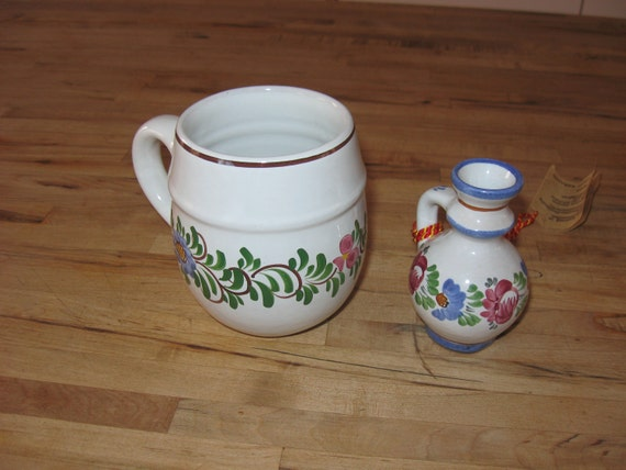Austrian Summer Handpainted Souvenir Ceramic Set