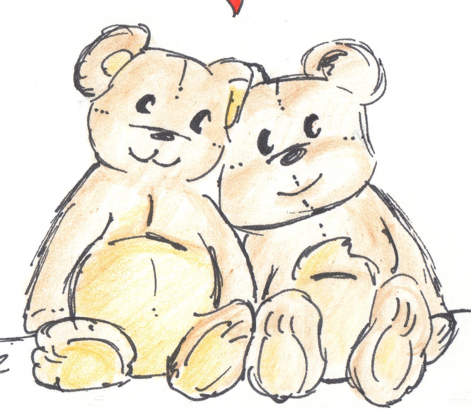 Uncategorized Drawing Of Teddy Bears bear card happy anniversary old teddy bears drawing