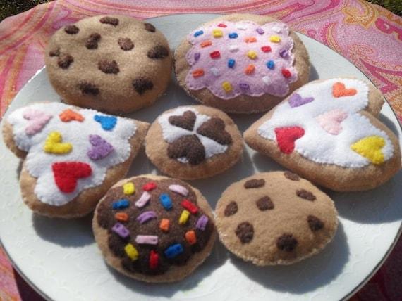 Ultimate Tea Party Cookie Platter- Felt Play Food