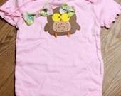 Embellished Onsie Baby Owl Matching Headband