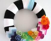 A Different Stripe Handmade Yarn Wreath