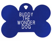 Pet Tag Personalized on Two-Sided Extra-Large Bone in 3 Colors