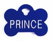 Pet Tag Personalized on Two-Sided Small Bone in 10 Colors