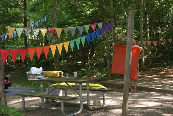 Rainbow Fabric Banner Bunting Garland Everybody love's a Rainbow by InYourBones