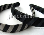 ONE INCH WIDE Shades of Black Woven Headband