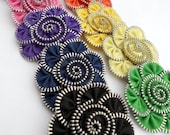 ONE Zipper Flower Hairclip/Pin