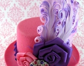 One Beautiful and Elegant Mini Top Hat - Couture for your Hair, costumes, photo prop, tea party, dress up