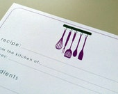 Recipe Cards - Printable - Choose design and colors - New Designs