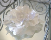 Satin Flower Handmade Any Color or Bridal Dress Shades - Any Size - Made to Order