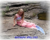 RESERVED for Liberty Mermaid Towel